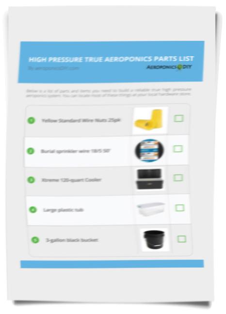 aeroponics parts list